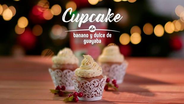 Cupcakes de banano y guayaba