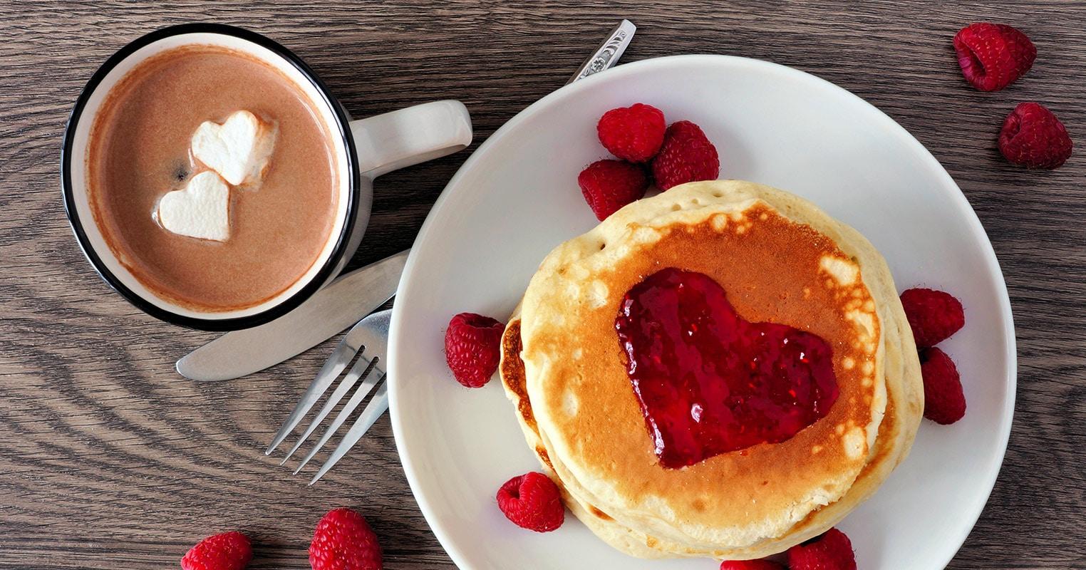 Pancakes sabor a amor