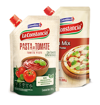 Pasta de tomate y Pizza Mix